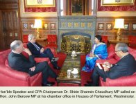 Hon'ble Speaker visited United Kingdom on 30 January-09 February, 2015